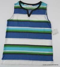New Liz Claiborne Modal Sleeveless Summer Blouse Top PS Petite Small 4/6