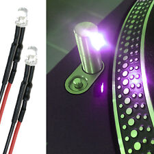 TECHNICS 1200 1210 - 3MM PURPLE LED TARGET / POP UP LIGHT (BUILT IN RESISTOR) x2