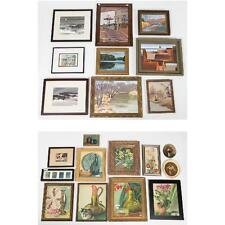 A Miscellaneous Collection of Watercolor and Oil Paintings by Various... Lot 435