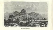 Stampa antica SCHWYZ SVITTO panorama Svizzera 1889 Alte Stich Old antique print