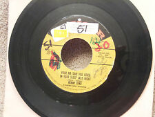 """KENNY DINO RARE Orig HIT 45-""""Your Ma Said You Cried In Your Sleep Last Night-VG+"""