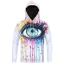 Womens Mens 3D Animal Print Hoodie sweatshirt space galaxy Top jumper Pullover