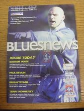 16/02/2002 Birmingham City v Barnsley  (Light Crease). Trusted sellers on ebay b