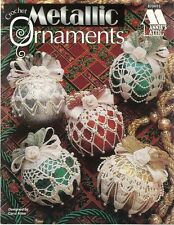 Metallic Ornaments Thread Crochet Christmas Patterns Carol Allen 1995 NEW