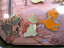 Disney HTF 25th Anniversary Aristocats Toulouse Berlioz and Marie pin set of 3