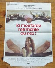 AFFICHE ORIGINALE CINEMA 1974 LA MOUTARDE ME MONTE AU NEZ BIRKIN RICHARD ZIDI