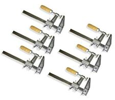 "Lot of 6: 12"" Inch BAR CLAMPS Heavy Duty Woodworking Wood Carpenter Tools"