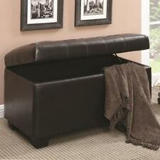 Dark Brown Storage Ottoman Bench by Coaster 500948