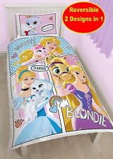 DISNEY PALACE PETS PAWS SINGLE DUVET QUILT COVER GIRLS PRINCESSES BEDDING SET