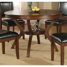 Coaster Nelms 1 Shelf Dining Table Dining Furniture in Walnut