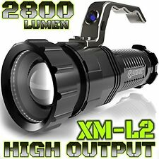 ALPHA TEK 2,800 Lumen LED Rechargeable Spotlight, 6.5-Inch, Black (No Battery)