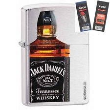 Zippo 28842 jack daniels bottle Lighter with *FLINT & WICK GIFT SET*