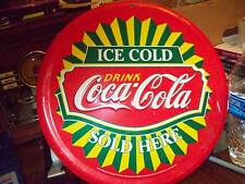 COCA COLA OLD METAL SIGN, NOT SURE THE YEAR (EMBOSSED)