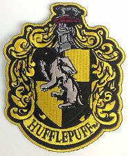 HARRY POTTER Large Movie HUFFLEPUFF Large Crest Iron-On Patch
