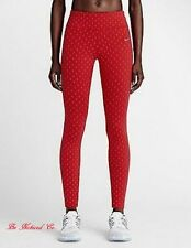 Nike Epic Lux Flash Tights Reflective S Red Gym Casual Training Running New