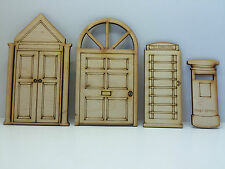 Townhouse Wooden Fairy Doors Multi-Pack - Contains Four Designs!