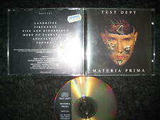 Limited Edition CD Test Dept ‎– Materia Prima  - Industrial Front 242 Department