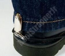BIKER / MOTORCYCLE HEEL CLIP BOOT STRAPS, HOLDS PANTS DOWN WHILE RIDING