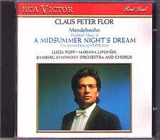 FLOR: MENDELSSOHN Midsummer Night's Dream LUCIA POPP CD Claus Peter Lipovsek