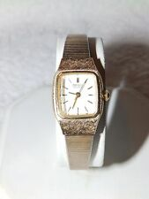 WOMANS GOLD TONE SEIKO WATCH WITH NEW BATTERY GOLD VERY SLIGHTLY FADING