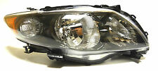 Toyota Corolla 2009-2011 Right Front head lamp lights for S/RS models Black USA