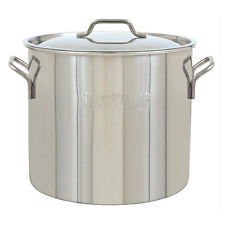 40-Quart Stainless Steel Stock Pot with Lid Home Kitchenware Tools Cookware Pans