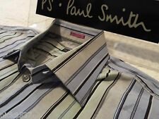 """PAUL SMITH Mens Shirt �� Size 16.5"""" (CHEST 44"""") �� RRP £95+ �� STRIPED JACQUARD"""
