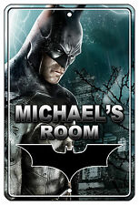 "8""x12"" METAL SIGN - Batman 1 Bedroom Door PERSONALIZE Kid's Room Superheros"