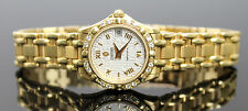 AUTHENTIC CONCORD SARATOGA DIAMONDS SOLID 18K YELLOW GOLD LADIES WRIST WATCH