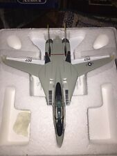 franklin mint f-14 tomcat Jolly Roger Fighter Jet  1:100 With Inserts Unused