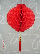 CHINESE 20cm RED M PVC HONEYCOMB LANTERN WEDDING BIRTHDAY NEW YEAR GARDEN PARTY