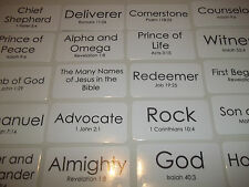 106 Many Names of Jesus in the Bible Flashcards.  Laminated Christian Educationa