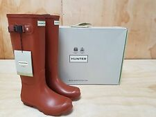 Hunter Wellies Norris Field Neo Wellington Boots Burnt Sienna Size 5 UK / 37 EU