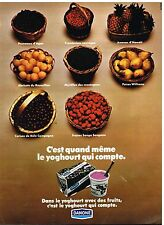 Publicité Advertising 1972 Desserts Yoghourt aux Fruits Danone