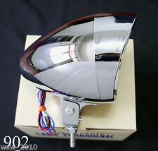Chrome Custom Mini Head Light Headlight Lamp Chopper Harley Davidson Motorcycle