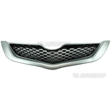Silver Grille Grill Front Bumper RS For Toyota Belta Yaris Vios Sedan 2007-2013