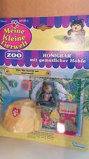 Meine Kleine Tierwelt ZOO Honigbär mit gemütlicher Höhle von 1993 NEU OVP Kenner
