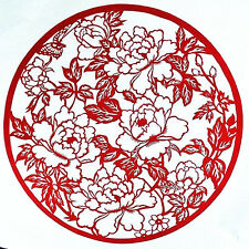 Chinese Folk Art Hand Made Paper Cut -  Blooming Flowers AE610