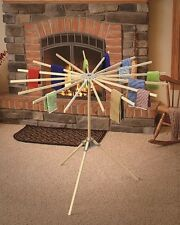 "16 ARM FLOOR DRYING RACK - Amish Handmade 54"" Diameter Laundry Hanger"