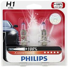 2x GERMANY Philips H1 12258 Upgrade X-tremeVision White 100% More Light Bulb 55W