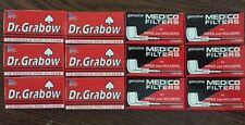 6 Boxes Dr. Grabow & 6 Boxes Medico Pipe Filters 120 Total NEW 2 1/4""