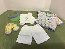 RARE Bitty Baby Twin BOY Doll Clothes 2007 Fun in the Sun Set Outfit & Shoes