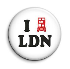 I Love London Bus Cute Funny 38mm/1.5 inch Button Pin Badge