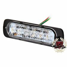 1XSuper Bright White/Amber 6-LED Flash Emergency Hazard Warning Strobe Light Bar