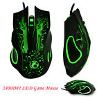 2400DPI LED Optical 6D USB Wired Gaming Mouse Mini Game Mice For PC Laptop