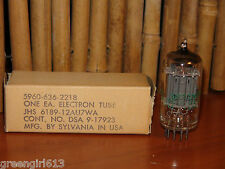 Vintage Sylvania 6189 12au7wa Very Strong & Balanced 1966 Stereo Tube #0652 158