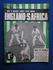 Day & Mason 1951 Test  Cricket Book  England v South Africa