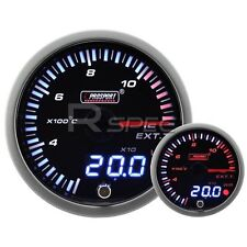 JDM 60mm Smoked Style Exhaust Gas Temp Dual Stepper Motor Gauge with warning