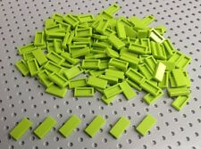 Lego Lime Green 1x2 Flat Tile (3069) x50 in a set *BRAND NEW* City Star Wars