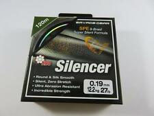 SAVAGE GEAR HD8 SILENCER FISHING BRAID 120M 0.19mm 27lb 12.2 kg GREEN